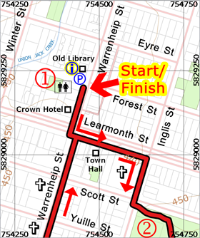 Jessie McIntosh Memorial walk map